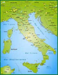 Map Of Italy With Cities by Map Of Italy U2014 Stock Vector Artalis 9556681