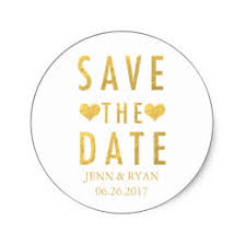save the date stickers gold sparkle save the date stickers zazzle
