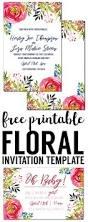 Free Halloween Invitations Templates Printable by Floral Invitation Template Free Printable Paper Trail Design