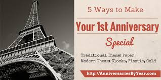 5 year wedding anniversary gift ideas 5 ways to make your 1st wedding anniversary special