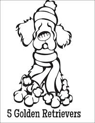12 coloring pages 12 dogs christmas images