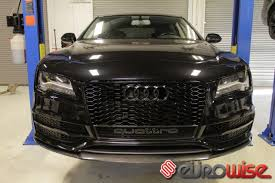 audi rs7 front eurowise carbon fiber audi a7 s7 rs7 front valence eurowise