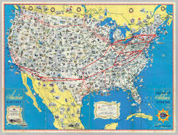 Airline Route Maps by American Airlines System Map David Rumsey Historical Map Collection