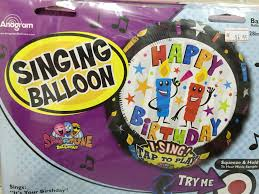 singing balloon singing balloon foil balloons world online
