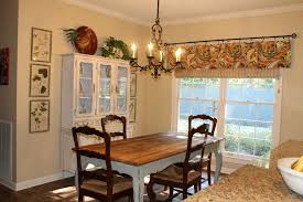 dining room valance kitchen country beige dining space integrated with kitchen