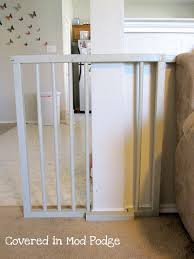 covered in mod podge diy baby gate or my husband calls it a baby