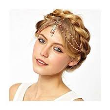 wedding headdress boho women pearl gold wedding headdress headband