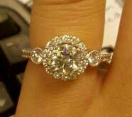 halo engagement ring settings only three brilliant engagement ring with halo setting