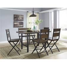 Pub Height Dining Room Sets Reclaimed Wood And Metal 6 Piece Counter Height Dining Set