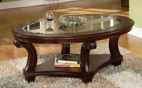 coffee table oval coffee table glass drawer wood storage accent