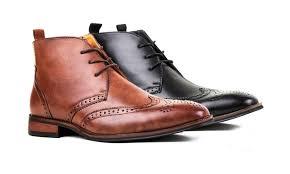 groupon s boots signature s wingtip brogue dress boots groupon