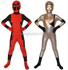 children deadpool zentai suit superhero costume cosplay fancy