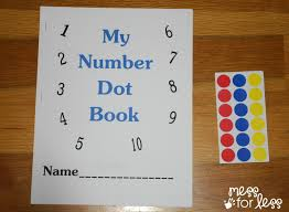 free math printables number book mess for less