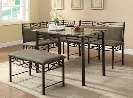 furniture sturdy dining table with bench black metal finish
