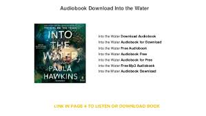 into the water audiobook free into the water audio book st