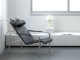 Modern Leather Armchair Minimalist Interior With Modern Leather Armchair Stock