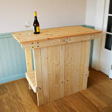 greenfields wood store rustic mobile portable bar table