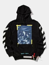 buy off white diagonal caravaggio hooded sweatshirt online at