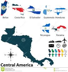 Map Of Middle America by Political Map Of Central America Royalty Free Stock Photo Image