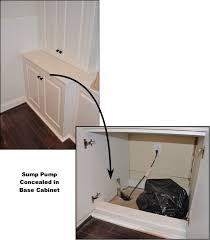 Basement Water Pump hiding a sump pump hide sump pump basements sump pump cabinet