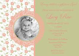 Example Of Baptismal Invitation Card 1st Birthday Baptism Invitations Joint 1st Birthday Christening