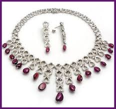 diamond necklace ruby images 20 54 carats diamond and ruby necklace in 14k gold gleam jewels jpg