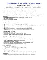 resume sle with career summary resumes qualifications exles sle resume career technical writer