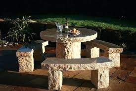 stone patio table top replacement faux stone patio table incredible stone outdoor furniture garden