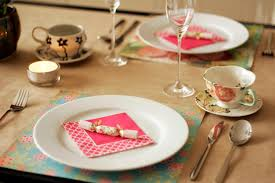 Bright Color Setting Table Setting All Put Together