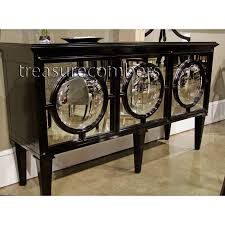 chic black wood mirrored buffet cabinet sideboard glam buffet