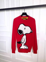 2016 winter fashion brand men snoopy printing long sleeve sweater