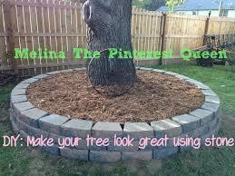 diy stone to go around your tree youtube