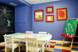 Craft Room For Kids - diy art crafts kids traditional with craft room blue wall