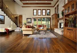 Rugs For Dark Floors Hickory Wood Floors Living Room Traditional With Area Rug