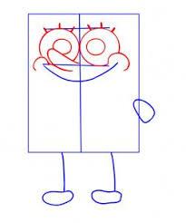 learn to create a sketch of spongebob