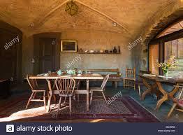 dining room at vikingsholm castle emerald bay state park lake