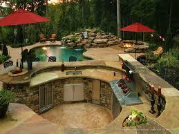 pool and outdoor kitchen designs stunning ideas outdoor kitchen