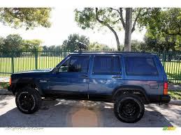 metallic blue jeep 1994 jeep cherokee sport in dark montego blue pearl metallic photo