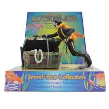 penn plax treasure diver aquarium ornament aquar
