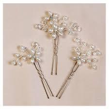 pearl hair pins pearl hair pins floral cluster bridal wedding