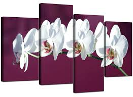 wall ideas plum blossom canvas wall art plum floral canvas wall plum blossom wall art plum white coloured orchid flower floral canvas split 4 piece 130cm 4116 plum wall art uk plum purple wall art