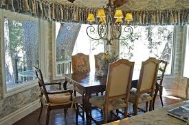 French Country Window Valances French Country Light Fixtures Kitchen Traditional With Bay Window