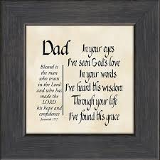 Religious Wall Decor Dad Inspirational Framed Gift Christian Wall Decor Lordsart