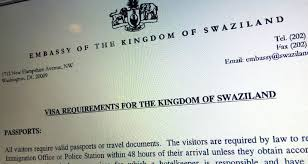 tourist visa application form u0026 details for swaziland travel on