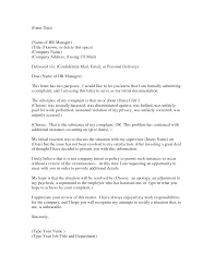 Letter Of Complaint Format by Format Of Complaint Letter To Hr Compudocs Us