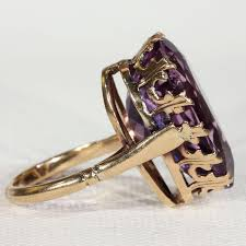 amethyst rings vintage images Vintage amethyst teardrop ring gold 16 carats victoria sterling jpg