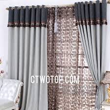Heavy Grey Curtains Thick Heavy Blackout Gray Curtains In Bedroom Living Room