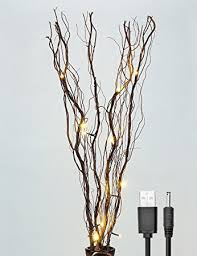 Twig Tree Home Decorating Amazon Com Lightshare Upgraded 36inch 16led Natural Willow Twig