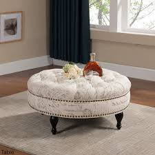 round tufted coffee table round tufted ottoman coffee table q leather berry kidaz