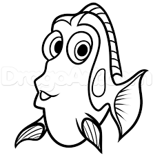 easy outlines of animals drawing dory easy step by step disney characters cartoons draw